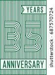 35 years anniversary logo.... | Shutterstock .eps vector #687570724