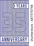 35 years anniversary logo.... | Shutterstock .eps vector #687570748
