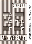 35 years anniversary logo.... | Shutterstock .eps vector #687570754