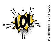 lettering lol laugh boom star.... | Shutterstock .eps vector #687571006