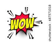 lettering wow boom star. comics ...   Shutterstock .eps vector #687571018