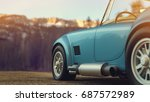classic car parked in the... | Shutterstock . vector #687572989