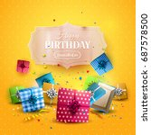 birthday template with colorful ... | Shutterstock .eps vector #687578500