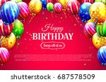 birthday template with colorful ... | Shutterstock .eps vector #687578509