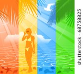 summer holiday banners  vector... | Shutterstock .eps vector #68758825