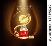 bird nest premium background... | Shutterstock .eps vector #687590260
