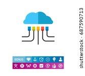 crm cloud concept vector icon   Shutterstock .eps vector #687590713