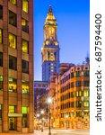 Boston, Massachusetts, USA street scene.