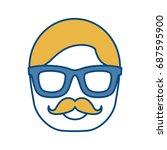 glasses accessory design  | Shutterstock .eps vector #687595900
