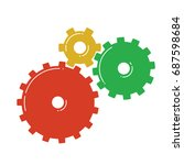 colorful gears icon. vector... | Shutterstock .eps vector #687598684