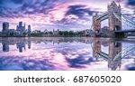 Panorama Of London Tower Bridg...