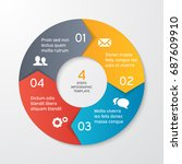 circle arrows for infographics. ... | Shutterstock .eps vector #687609910