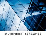 modern glass building with... | Shutterstock . vector #687610483