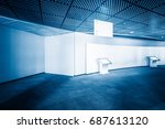 modern building hallway with... | Shutterstock . vector #687613120