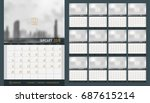 vector of calendar 2018 new... | Shutterstock .eps vector #687615214
