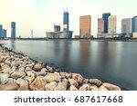 dalian city waterfront downtown ... | Shutterstock . vector #687617668