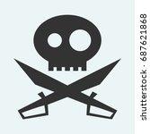 icon of jolly roger symbol....   Shutterstock . vector #687621868