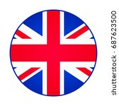 great britain  united kingdom... | Shutterstock . vector #687623500