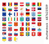 set of flags of all countries... | Shutterstock . vector #687623509