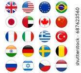 set of popular country flags.... | Shutterstock . vector #687623560