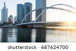 tianjin city waterfront... | Shutterstock . vector #687624700