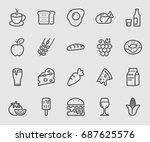 food and drink line icon | Shutterstock .eps vector #687625576
