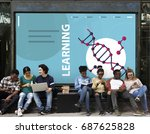 science dna research... | Shutterstock . vector #687625828