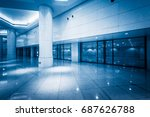 modern building hallway with... | Shutterstock . vector #687626788