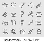 pets line icon | Shutterstock .eps vector #687628444
