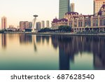 tianjin city waterfront... | Shutterstock . vector #687628540