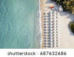 Aerial View Of Amazing Beach...