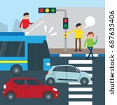 road safety campaign... | Shutterstock .eps vector #687633406
