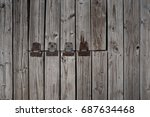 Small photo of Weathered Pier Planking with an Old Trap Door.