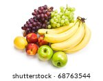 fruit mix of apples  nectarines ... | Shutterstock . vector #68763544