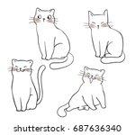 vector illustration character... | Shutterstock .eps vector #687636340