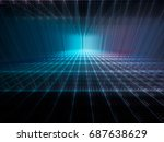 abstract background. fractal... | Shutterstock . vector #687638629