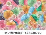 colorful paper used for... | Shutterstock . vector #687638710