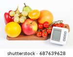 blood pressure monitor and... | Shutterstock . vector #687639628