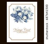 vintage delicate invitation... | Shutterstock . vector #687641500