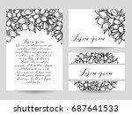 vintage delicate invitation... | Shutterstock .eps vector #687641533