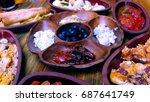 turkish breakfast   Shutterstock . vector #687641749