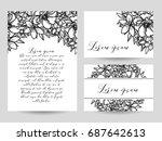 romantic invitation. wedding ... | Shutterstock .eps vector #687642613