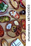 turkish breakfast | Shutterstock . vector #687643303