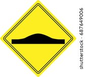 sign  unequal road surface sign | Shutterstock .eps vector #687649006