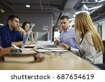 professional team of architects ... | Shutterstock . vector #687654619