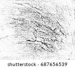 black and white grunge... | Shutterstock . vector #687656539