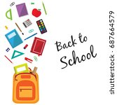 back to school background with... | Shutterstock .eps vector #687664579