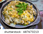 thai street food  oysters fried ...   Shutterstock . vector #687673213