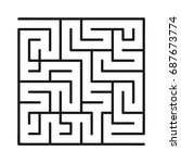 abstract maze   labyrinth with... | Shutterstock .eps vector #687673774
