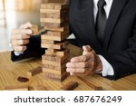 planning  risk and wealth... | Shutterstock . vector #687676249
